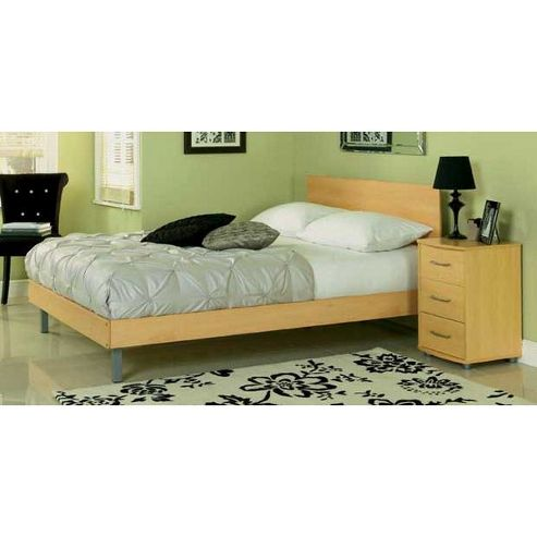 Ashcraft Coventry Double Bed Frame - Beech