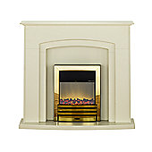 Adam Falmouth Marfil Stone Effect Fireplace Suite