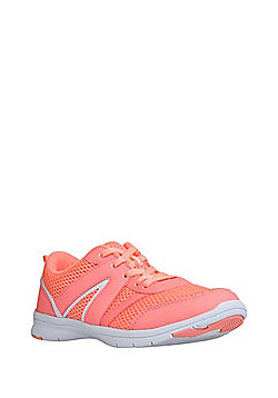 F&F Active Mesh Panel Trainers - Coral