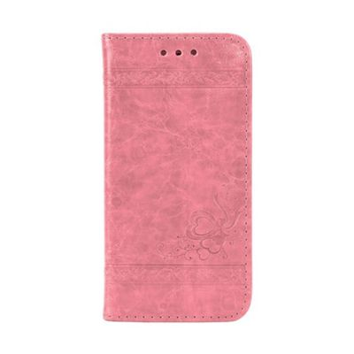 iPhone 8 Plus Smart PU Leather Wallet Flip Case Stand With Card Holder - Pink