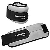 Tunturi Soft Ankle / Wrist Weights Pair - 1kg (Each)