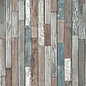 Wood Planks Wallpaper - Blue - FD40888