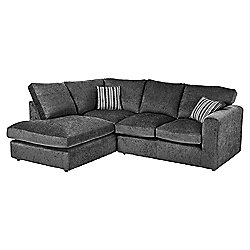 Taunton Left Hand Corner Sofa, Dark Grey
