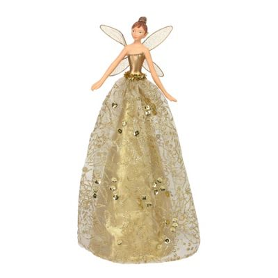 Gold Glitter Fairy Tree Topper - Large