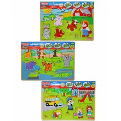 Fisher Price '2 In 1' Assorted Puzzle Board Game