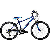 "Freespirit Chaotic 24"" Wheel 6spd Junior Mountain Bike Blue"