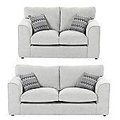 Hardy 2 Seater + 2.5 Seater Sofa Set, Grey