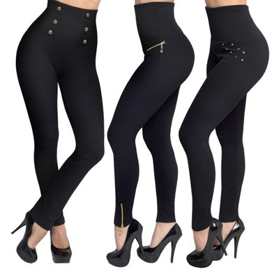 JML Hollywood Pants: Slimming, Waist-Shaping Leggings - Small