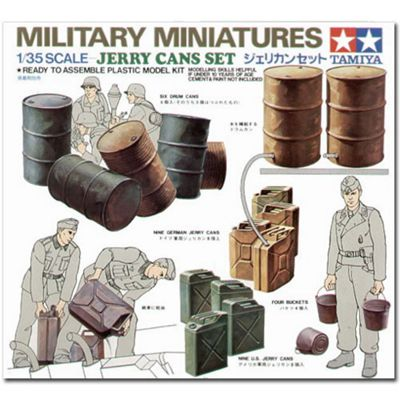 Tamiya 35026 Jerry Cans 1:35 Military Model Kit