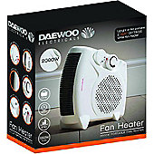 Daewoo Portable 2000W Electric Floor & Upright Fan Heater