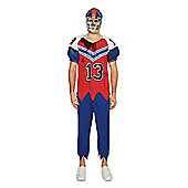 F&F Zombie American Footballer Halloween Costume - Red