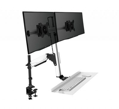 Duronic DM1K1X2 Dual / Double Sit Stand Single LCD LED Desk 13