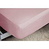 Belledorm 200 Thread Count Polycotton Fitted Sheet - Pink