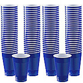 Royal Blue Cups - 355ml Plastic Party Cups - 100 Pack