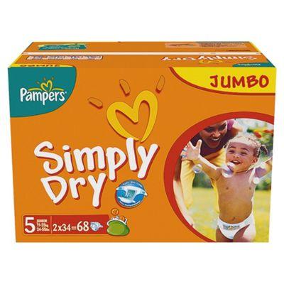 Pampers Simply Dry Jumbo Pack Junior 68