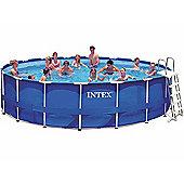 """Intex Metal Frame Saltwater Pool Package 18ft x 48"""""""