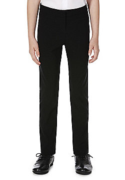 F&F School Girls Stretch Slim Leg Trousers - Black