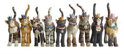 Royal Furmily Pawtraits Group Cat Single Tea Towel