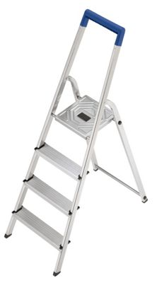 Hailo L20 Aluminium Safety Household Ladder