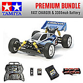 TAMIYA Neo Scorcher 4WD Buggy RC Car Premium Bundle Fast Charger 58568