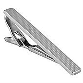 Urban Male Polished Stainless Steel Dimpled Tie Slide Clip For Men