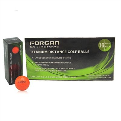 16 Forgan Golf Titanium Distance Mens Golf Balls Orange