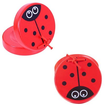 Bigjigs Toys Animal Castanets (One Pair - Ladybird)