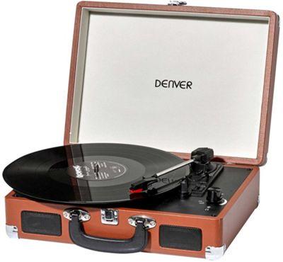 Denver VPL-120 Brown Vinyl Record Player