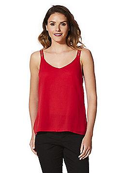 Vero Moda Embellished Strap Cami Top - Red