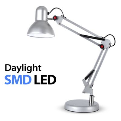 Buy Adjustable Daylight LED Desk Lamp Silver from our Desk Lamps – Daylight Desk Lamp
