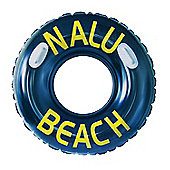 "Huge Nalu Black 47"" Inflatable Turbo Tyre Tube Swimming Ring With Handles"