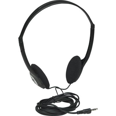 Manhattan 177481 Wired Stereo Headphone - Over-the-head - Circumaural - Black