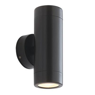 Odyssey 2 Light 35W Wall Light Satin Black Paint