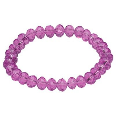 Light Purple Glass Bead Stretch Bracelet