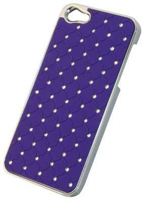 Tortoise™ Hard Case iPhone 5 Diamante Quilt Purple