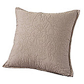 Highams Embroidered Pillow Case Cushion Cover, 43 x 43 cm - Portobello Grey