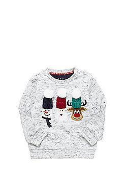 F&F Knitted Hat Christmas Sweatshirt - Grey