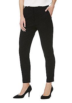 F&F Dobby Ponte Skinny Trousers - Black