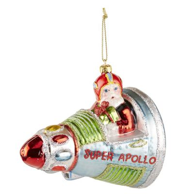 Santa Spaceship Christmas Bauble