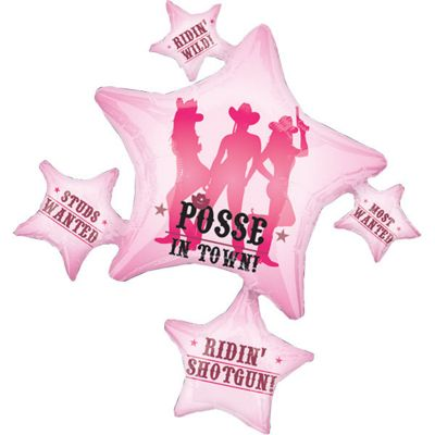 Party Posse Cluster Supershape Balloon - 35 inch Foil