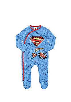 DC Comics Superman Applique All in One - Blue & Red