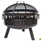 La Hacienda Stylish Steel Firepit