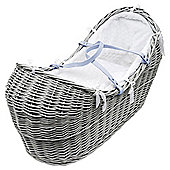 Kinder Valley Grey Wicker Moses Pod, White honeycomb