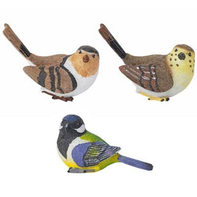 Set of 3 Wall-mountable British Bird Garden Ornaments