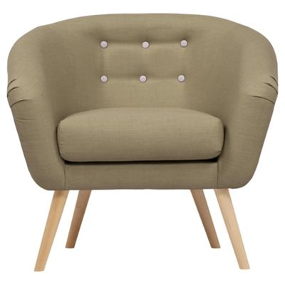 jemima tub chair olivegrey button