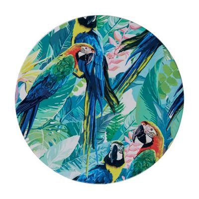 Bahne Ceramic Tile Round Parrot Print
