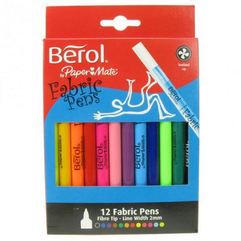 Berol - Fabric Pens 12 Pk