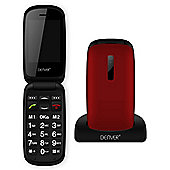 Denver GSP-130 Bluetooth, SOS & Camera Big Button Mobile Phone - Red