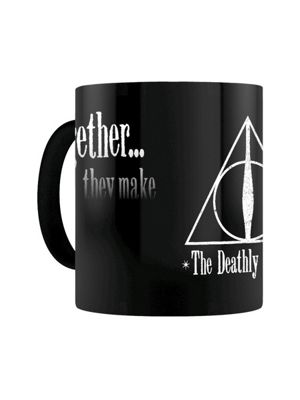 Harry Potter Deathly Hallows Heat Changing 10oz Ceramic Mug, Black