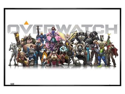 Overwatch Gloss Black Framed Characters Poster 61 x 91.5cm